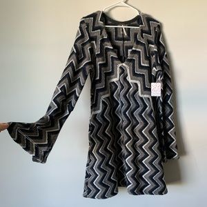 Free People knit chevron mod mini dress